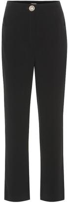 Balmain High-rise crApe straight pants