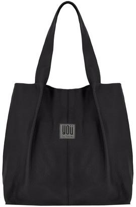 You By Tokarska Leather Handbag Shopper Black
