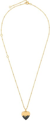 Kasun London Black Heart pendant necklace