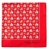 Salvatore Ferragamo Regal Elephant and Horse Pocket Square