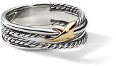 Thumbnail for your product : David Yurman X Crossover Ring With 18K Yellow Gold