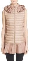 Moncler 'Dorade' Water Resistant Peplum Hem Hooded Down Puffer Vest
