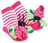 Mud Pie Ladybug Socks in Pink
