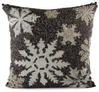Mackenzie Childs Snowflake Beaded Pillow