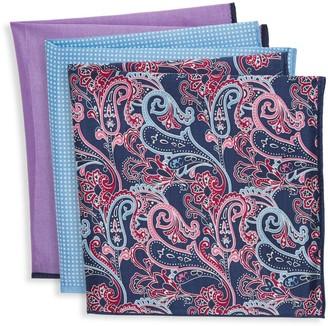 Ted Baker 3-Pack Cotton & Silk Blend Pocket Squares