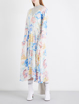 Vetements Floral-print draped-panel crepe dress