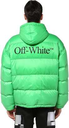 Off-White Off White Printed Techno Puffer Jacket W/ Hood