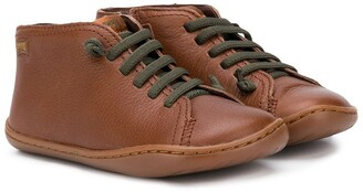 Camper Kids Lace-Up Boots