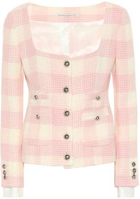Alessandra Rich Checked tweed jacket