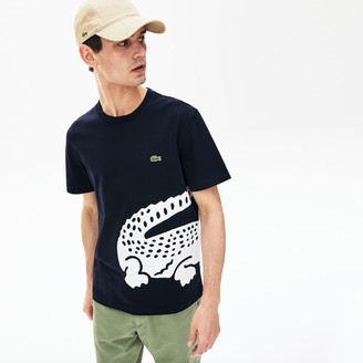 Lacoste Mens Oversize Croc Crew Neck Jersey T-shirt