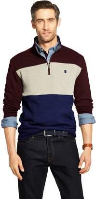 Izod Men's Advantage SportFlex Colorblock Classic-Fit Performance Fleece Quarter-Zip Pullover