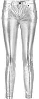 RtA Prince Metallic Textured-Leather Skinny Pants