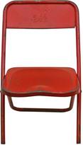 Rejuvenation Child's Metal Folding Chair W/ Clown Motif C1960