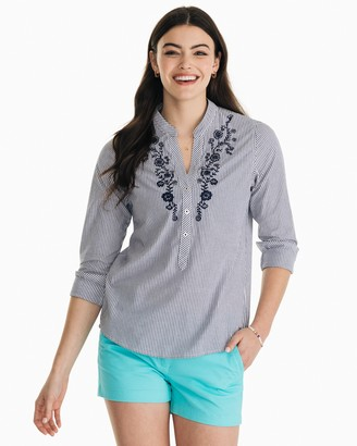 Southern Tide Samantha Embroidered Popover Shirt
