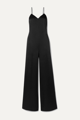 Rosetta Getty Charmeuse Jumpsuit - Black