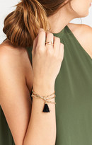 MUMU Shimmer and Twill Bracelet ~ Gold and Black