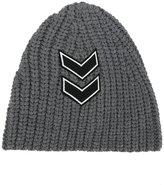Neil Barrett chevron patch knitted beanie