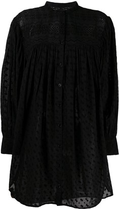 Etoile Isabel Marant Long-Sleeved Midi Shirt Dress