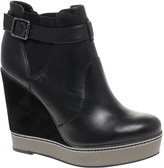 Sapphire Platform Wedge Ankle Boot