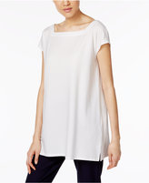 Eileen Fisher Washable Crepe Tunic, a Macy's Exclusive Style