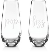 Kate Spade Two Of a Kind Stemless Champagne Flute, Set of 2