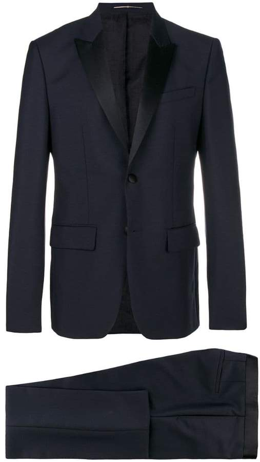 Givenchy regular fit contrasting lapel suit