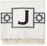 Jonathan Adler Nixon Border Monogram Baby Alpaca Throw