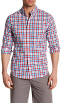 Slate & Stone Long Sleeve Washed Pastel Plaid Slim Fit Shirt