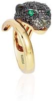 Effy Jewelry Effy Signature 14K Yellow Gold Black Diamond and Emerald Ring, 1.80 TCW
