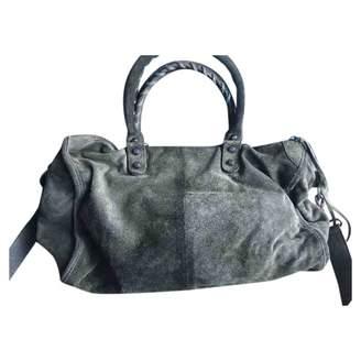 Balenciaga Khaki Suede Handbags
