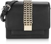 Karl Lagerfeld Black Leather K/Chain Closure Mini Crossbody Bag