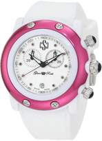 Glam Rock Women's Chronograph Textured Dial White Silicone Watch GLAMROCK-GRD60100-NCR