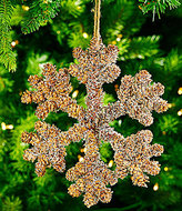 Southern Living Nostalgic Noel Collection Pinecone Snowflake Ornament