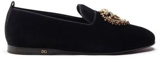 Dolce & Gabbana Velvet Devotion slippers
