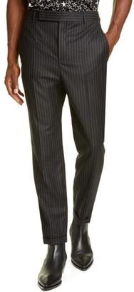 Saint Laurent Pinstripe Wool Trousers