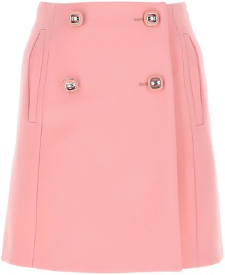 Prada Buttoned Mini Skirt