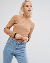 Asos Turtleneck With Contrast Trim