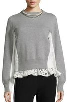 Sacai Pearl & Lace Colorblock Sweatshirt