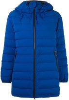 Aspesi hooded zipped puffer jacket - women - Feather Down/Polyamide - L