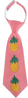 Gucci multicoloured Embroidered Pineapple Silk-Blend Tie