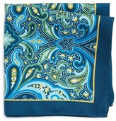 Ted Baker Pitcairn Paisley Silk Pocket Square