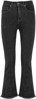Veronica Beard Carly Black Kick-flare Jeans