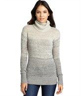 light grey melange cashmere turtleneck tunic