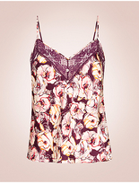 Rosie For Autograph Silk & Lace Floral Print Camisole