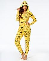Briefly Stated Emoji Hooded Pajama Union Suit