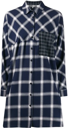 McQ Swallow Check Shirt Dress
