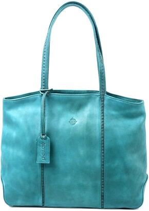 Old Trend Dancing Bamboo Leather Tote Bag