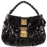 Miu Miu Patent Leather Coffer Bag