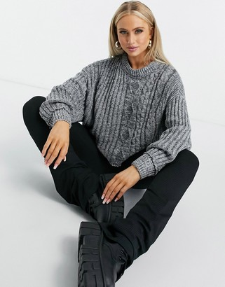 Free People on your side jumper in grey