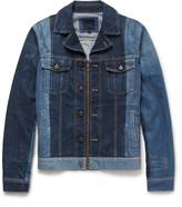 Lanvin - Slim-fit Two-tone Denim Jacket